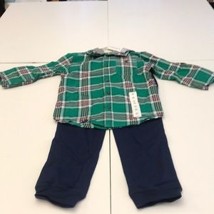 Carters complete outfit with plaid shirt and pants